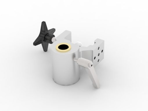 Multibracket with 2xØ6 clearance holes with brass bushing