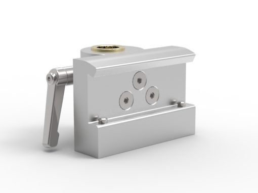 Rail clamp with brass bushing