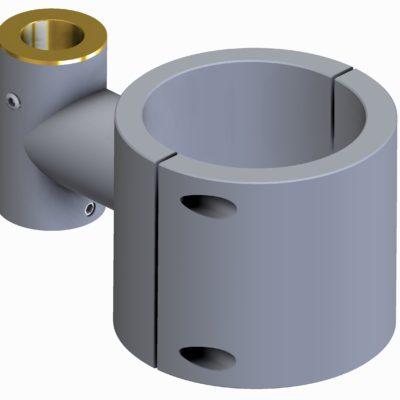 Spændbeslag enkelt, Ø70 x 20mm rør/søjle, JB 070-00-20