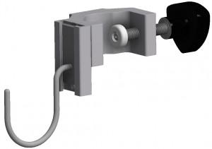 Mask & tubing hook, T-slot bracket, JB 162-00-00