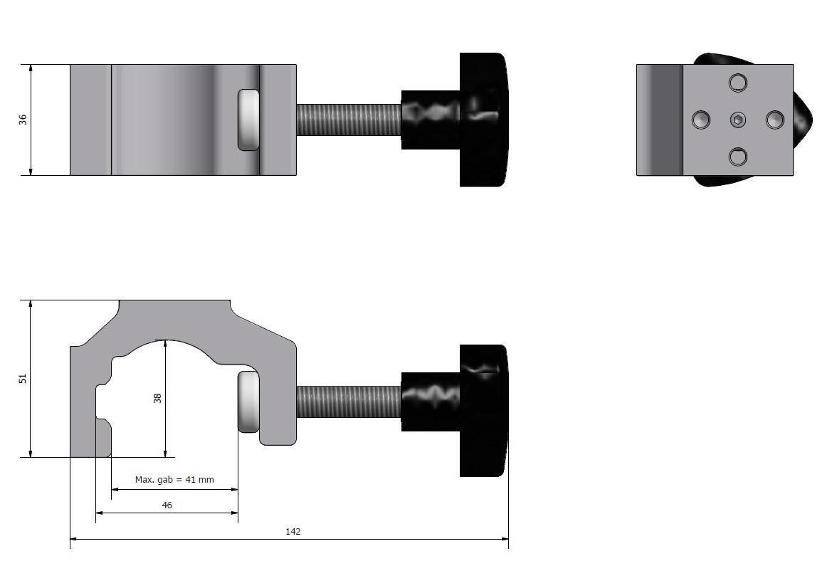 Multibracket, can be turned upside, JB 158-00-00