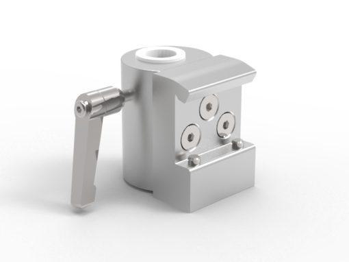 Slide clamp, half, fixing device Ø18mm hole, 2-screws, JB 216-03-18