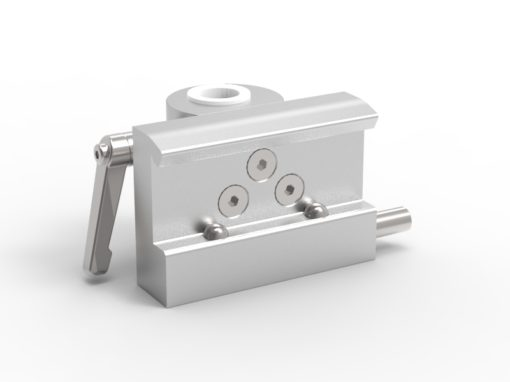 Slide clamp, wide model, fixing device Ø18mm hole, 2- ball clasp, JB 207-03-18