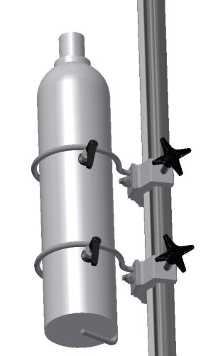 Oxygen & Gas cylinder holder, top, Ø117mm, JB 290-01-00