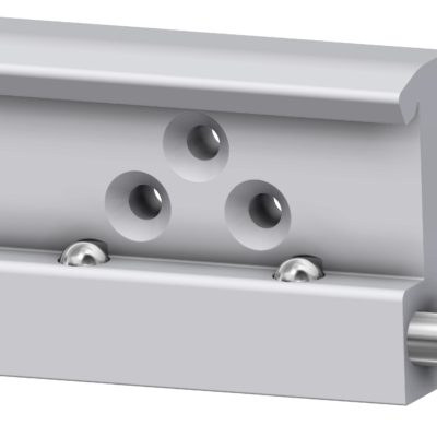 Rail clamp, wide, with double with ball clasp, JB 207-00-00