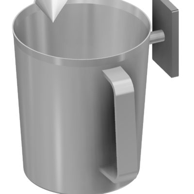 Beaker 0,5 litre, bracket for T-slot, JB 236-00-00
