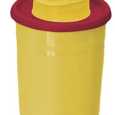 Multi-Safe quick, kanylebøtte gul, låg, rund åbning, lav, 500 ml, JB 31-543-17-01