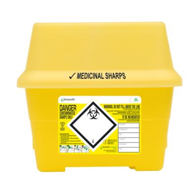 Kanyleboks, Sharpsafe, gul, 2 liter, JB 20-03-98-02