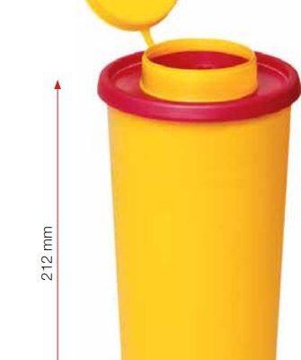 Multi-Safe quick, kanylebøtte, gul, låg, rund åbning, 1 liter, JB 31-543-25-01