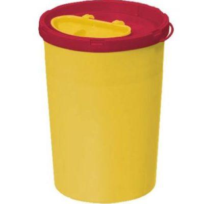 Multi-Safe opti, kanylebøtte, gul låg, oval åbning, 1,7 Liter JB 31-541-70-01