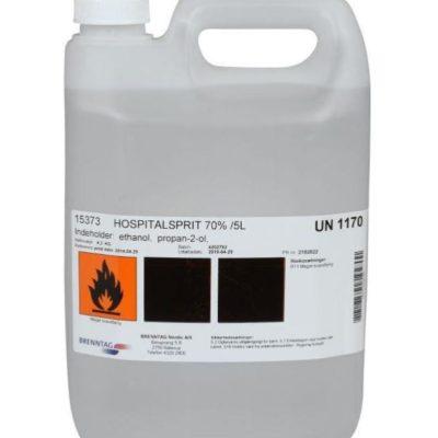 Hospitalsprit 70%, Brenntag, 5 liter dunk, JB 29-20-23-02