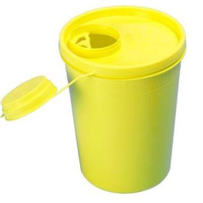 Uson kanylebøtte, gul, låg m. kanyleaftræk, 1700 ml, JB 31-521-70-01