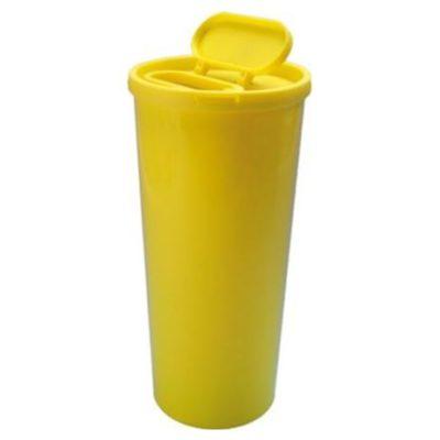 Uson kanylebøtte, gul, stor åbning i låg, UN godkendt 3 L, JB 31-527-30-01