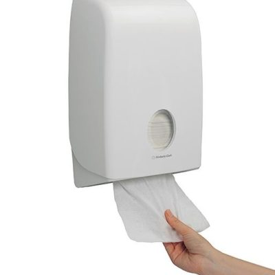 Dispenser, Aquarius, til interfold håndklædeark, hvid, JB 11-95-54