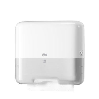 Dispenser, Tork H3, til multifold og c-fold håndklædeark, hvid, mini, JB 11-75-33