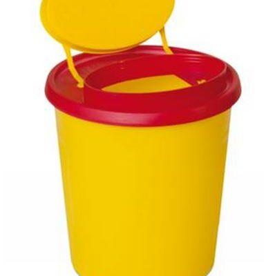 Multi-Safe quick, kanylebøtte, gul låg, oval åbning, 2,5 Liter, JB 31-543-10-01