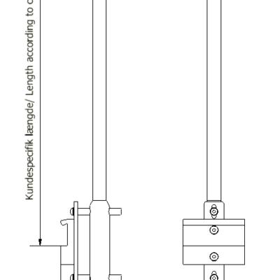Søjleophæng, fastgørelse på kulisseskinne, Ø20 mm rør, JB 177-00-00
