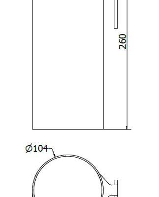 Vase, stabil blomstervase, T-Spors hank, JB 334-00-00