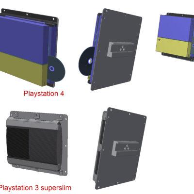 PS3/PS4 sikkerhedsophæng på kulisseskinner
