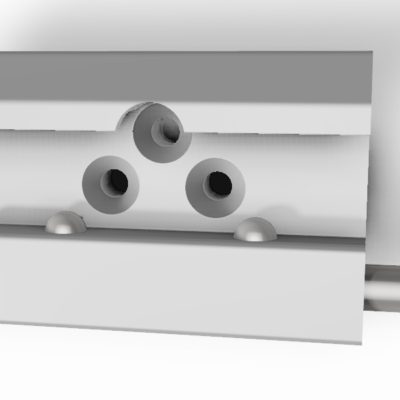 Medical rail clamp wide, with 2 ball claps & 3 holes, JB 144-03-00