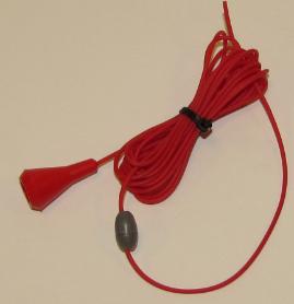 Pull cord, 2.5 meters, antibacterial plastic, JB IP 9025