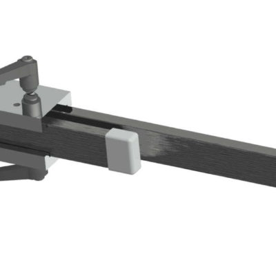 Double Rail Clamp for 10x25mm DIN Rails, 4xM6 holes, JB 02-10-25