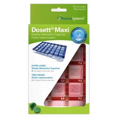 Dosett, Maxi doseringsæske, rød, m. blindskrift, JB 77-300-10-01