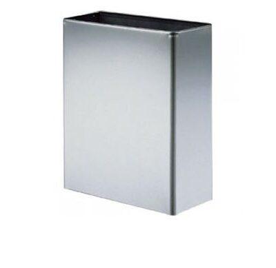 Affaldsbeholder, rustfast stål, væghængt, 24 liter, JB WB2-3SHB