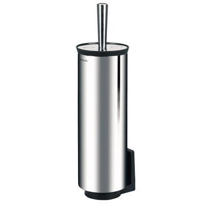 Toiletbørsteholder, mat rustfast stål, klar til vægmontering, JB 23-83