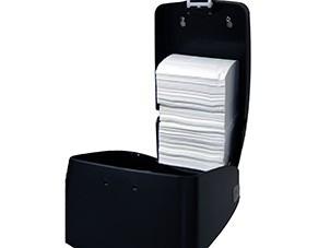 Dispenser, Mercury, til toiletpapir i ark, sølv og sort, maxi, JB 11-67-52