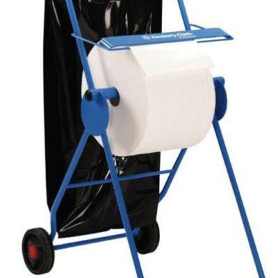 Gulvstativ, Kimberly Clark, til værkstedsruller med max bredde 40cm, blå, JB 25-78