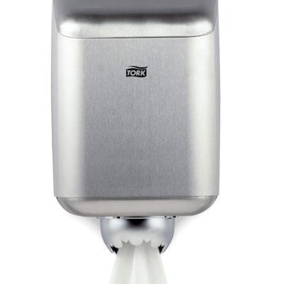 Dispenser, Tork M2, til midi håndklæderuller, stålgrå, midi, JB 11-75-10