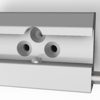 Medical rail clamp, with 1 ball lock & 3 holes, JB 145-03-00