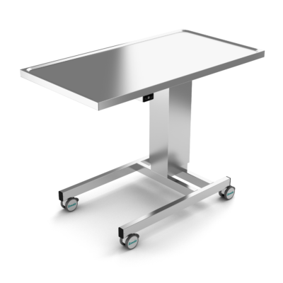 Instrument Table, Stainless Steel, EL-Height Adjustment, two legs, JB 100 22