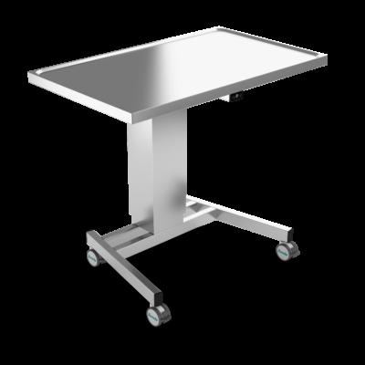Instrument table, Stainless Steel, EL-Height Adjustment, 2 legs, JB 100 23