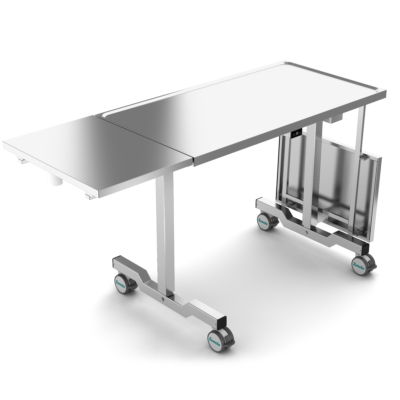 Instrument Table, Folded Side Tables, 80 kg, 2 Legs, JB 100 24-XX-Ft