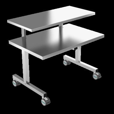 Instrument table, Stainless Steel, EL-Height Adjustment, 2 legs, JB 100 27