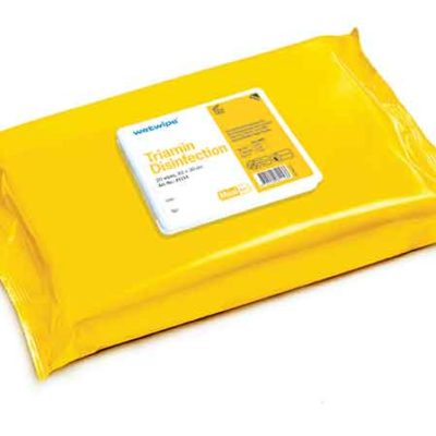 WET WIPES TRIAMIN DESINFEKTION, GUL, MAXI, 43x30 cm, 81153