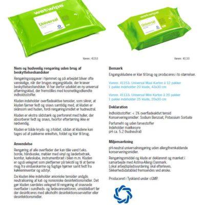 Wet Wipe Universal Astma Allergi, Maxi, grøn, 43×30 cm, 41153