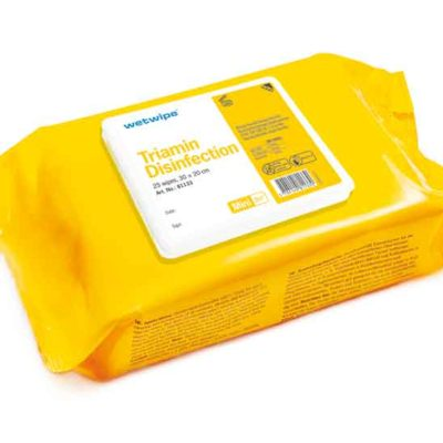 WET WIPES TRIAMIN DESINFEKTION, GUL, MINI, 30x20 cm, 81133