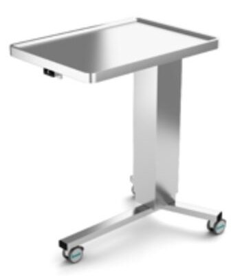 Mayo Table Stainless Steel, Electrical Height Adjustment, 3 legs, JB 100 21