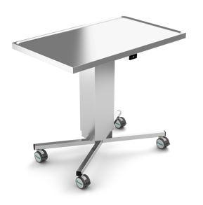 Instrument table, Stainless Steel, EL-Height Adjustment, 4 Legs, JB 100 20